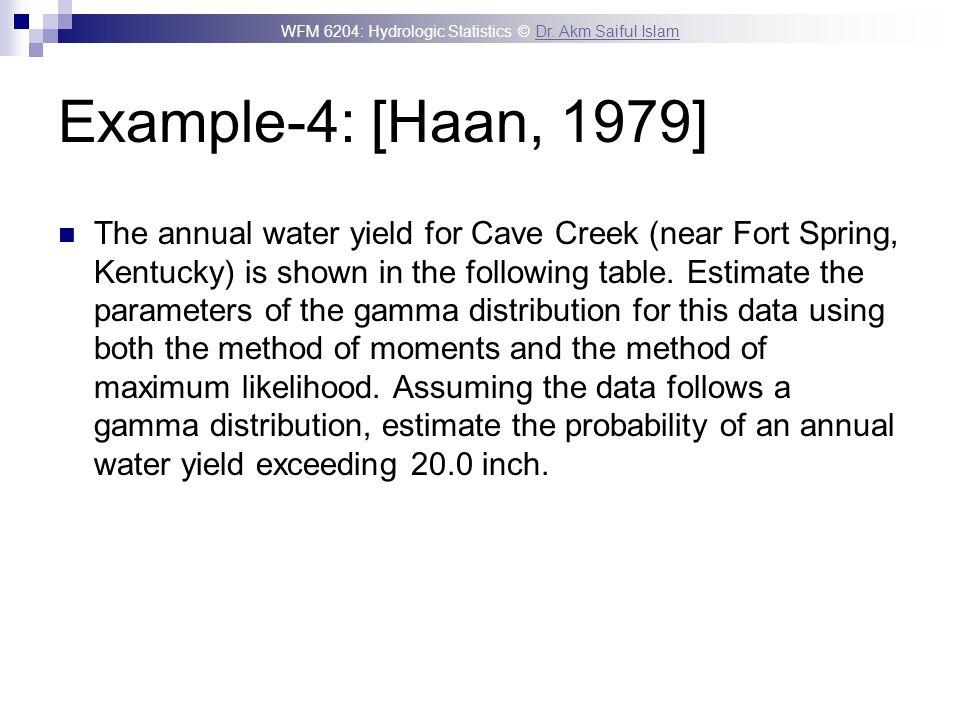 Example-4: [Haan, 1979]